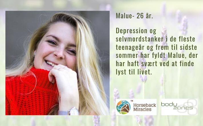 Depression og selvmordstanker var Malue's følgesvend gennem 12 år